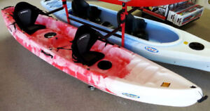 New tandem 2(+1) seater kayaks incl. 2 paddles for $845.00