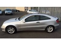 SORRY NOW SOLD 2003 MERCEDES C CLASS 3 DOOR COUPE REDUCED FOR QUICK SALE!!