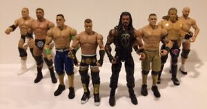 8 WWE WWF WRESTLING ACTION FIGURES ADULT OWNED ONLY $40