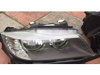 Bmw E90-E91 2008-2013 Headlights M Sport Angel Eyes Facelift 2012 LCI
