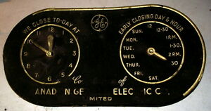 Rare General Electric Company 1942 opening and closing sign
