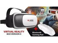 VR box 2.0 vr glassess with remote link to mobile phone