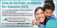 Need childare? Hire an AU PAIR!!!!
