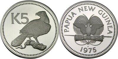 elf Papua New Guinea 20 Toea 1975 FM  Proof Bird