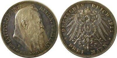 elf Germany Bavaria 3 Mark 1911 D