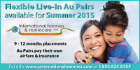 P/t or f/t  Au Pairs available - EASY hiring process