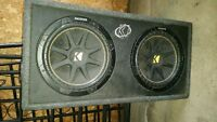 "2 12"" kicker subs for sale!"