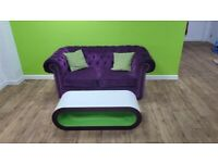 Chesterfield Sofa purple - excellent condition