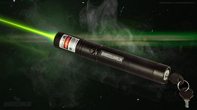 Shadowhawk Green Tactical Laser Pointer Lazer Pen Visible Beam Light 18650
