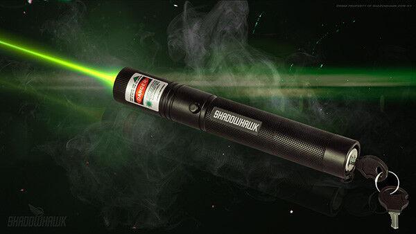 ShadowHawk Green Tactical Laser Pointer Lazer Pen Visible Beam Light, 18650