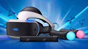 Playstation VR Headset w/ Camera & Move Controllers