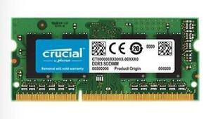 8GB Crucial DDR3L-1600 SODIMM 1.35V CL11 Memory - CT102464BF160B