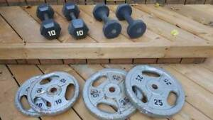 Dumbbells and weights
