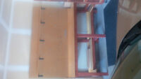 Custom quality worktable and 2 shelving units
