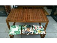 Beautiful garden table and 2 x benches