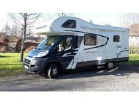 Swift 696 Motorhome with Double Bunk/rear garage configuration.