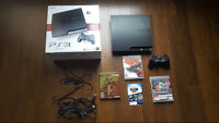 160Gb PS3 Slim / 1 controller / 4 games / Original Box / Cables
