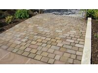 Bradstone, Natural Sandstone Setts Sunset Buff Mixed Pack - 365 Setts Per Pack