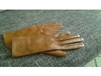 New Leather tan gloves