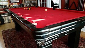 Solid Oak Pool Table