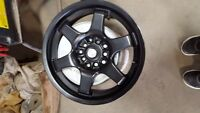 "Focal Satin Black 15"" Wheels - set of 4"