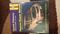 Haynes Repair Manual 1999-2004 Honda Odyssey