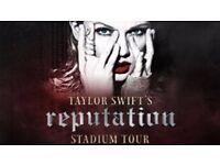 2x Tickets for Taylor Swift reputation Stadium Tour at Etihad Stadium, Manchester, Friday 8th June