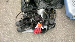 Two pairs of Cleats (soccer, rugby, footbal) Kitchener / Waterloo Kitchener Area image 1