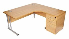 Heavy Duty Office Desk with Drawers