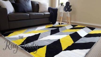 NEW!!! Large Yellow Lounge Room Rug