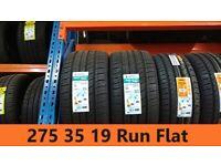275 35 19 RUN FLAT Jinyu Fit & Balance Included