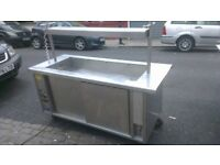 Stanley Mobile Cold Cupboard With Bain Marie Top on Wheels - Free Delivery In Southampton