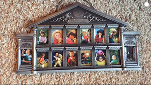 Schoolhouse picture frame. Spot for every school year.