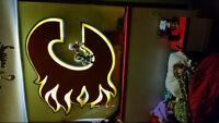 Flames Hockey Bed & Framed Flag
