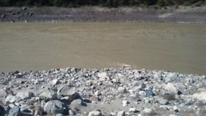 Placer gold claim on Fraser River by Lytton