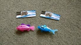 Two Robo Fish Toys with Spare Batteries