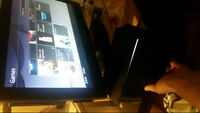 """Barely used ps4 with 2 controllers. 5 games, 1 25"""" screen 450$!"""