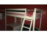 Nearly new mid/high sleeper cabin bed !!