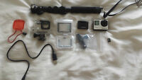 Gopro Hero 4 Silver + accessories ***Like New***