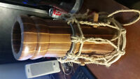 Canadian Made Hand Drum with broken skin.  All natural materials