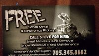 Free scrap metal and electronics pick up in orillia and area