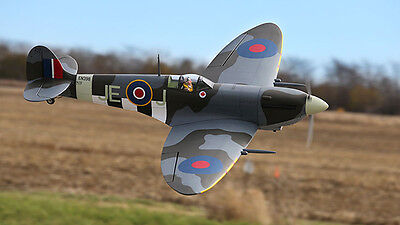 Large 1/7 Scale SPITFIRE MK.9 scratch build R/c Plane Plans 64 in. wingspan