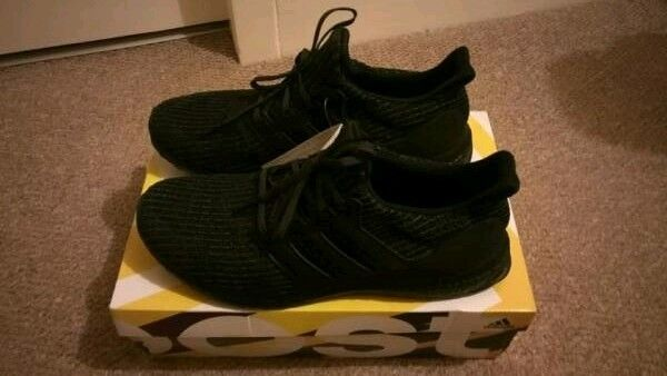 c9c0b4873c4ee Adidas Ultra Boost Triple Black 4.0 UK 11.5 Men s Trainers