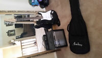 Electric Guitar, Amp and Case