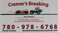 Custom land breaking and land Clearing services 25 yrs exp.