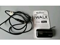 Portable black iWALK mobile phone charger for old iphones/ipods - 30 pin charger