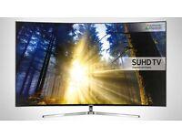 "SAMSUNG UE55KS9000 SMART 55"" SUHD 4K HDR QUANTUM DOT LED TV + FREE TECHLINK TV STAND"