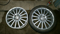 2 silver 18inch with 85% tread on tire bolt pattern 5x114.3 $80
