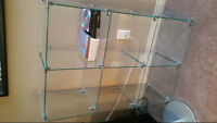 Glass Shelving can assmble to 6 ft or many shelves