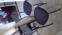 two metal chairs,from Ikea   $25,00 excellent condition